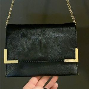 STREET LEVEL black crossbody with gold accents